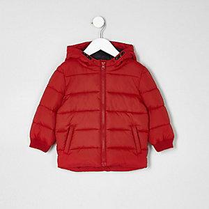 Mini - Rode gewatteerde jas voor jongens