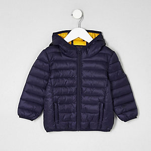 Mini boys navy lightweight puffer jacket