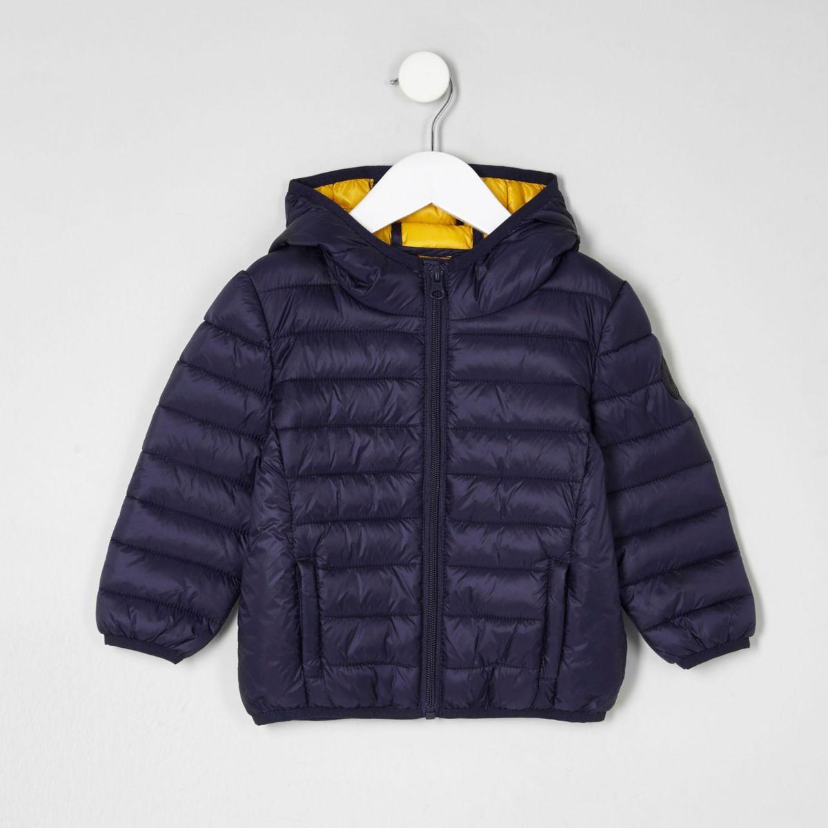 Mini boys navy lightweight puffer jacket