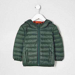 Mini - Groen lichtgewicht gewatteerd jack voor jongens