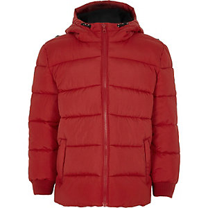 Boys red puffer coat
