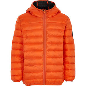 Boys orange puffer coat