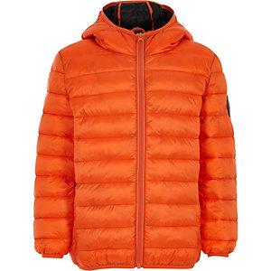 Oranje gewatteerde jas voor jongens