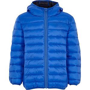 Blauwe gewatteerde jas voor jongens