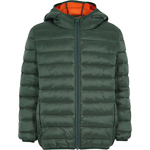 Boys green puffer coat