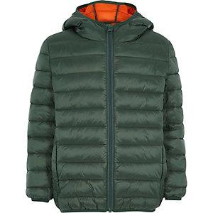Groene gewatteerde jas voor jongens