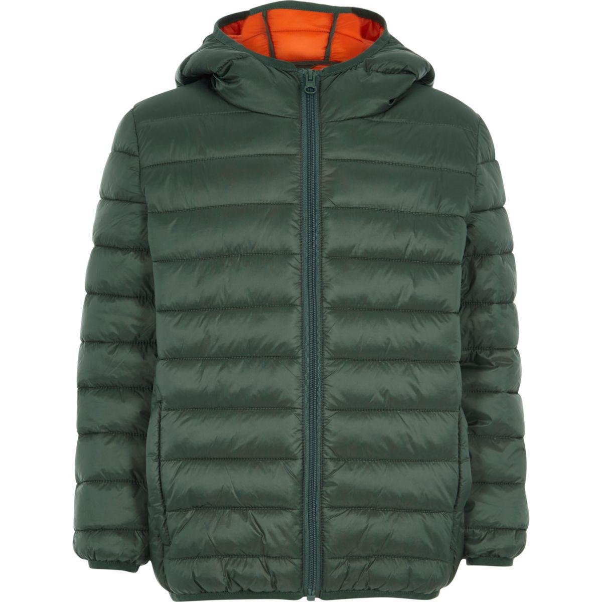 Boys green puffer coat