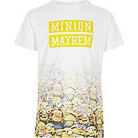 Boys white 'minion mayhem' fade print T-shirt