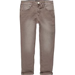 Dylan - Bruine slim-fit jeans voor jongens