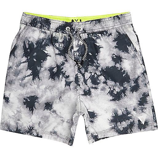 Boys grey tie dye swim trunks