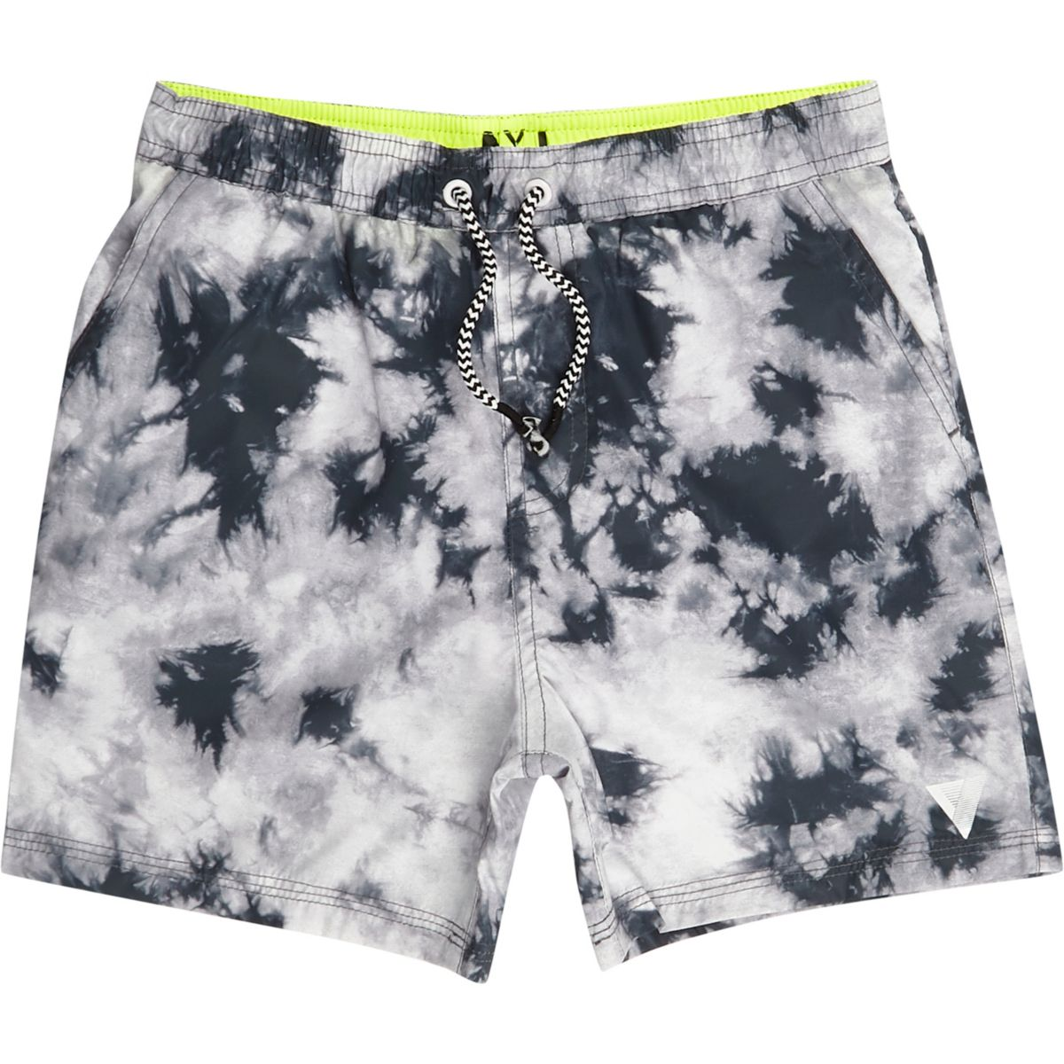 Boys grey tie dye swim trunks