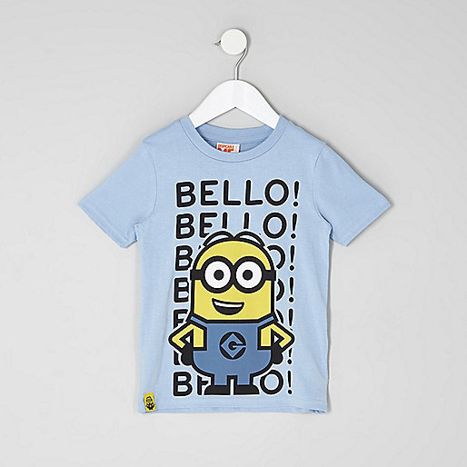 Mini boys blue Minion print T-shirt