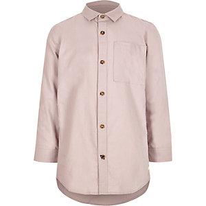 Roze Oxford overhemd met lange mouwen voor jongens