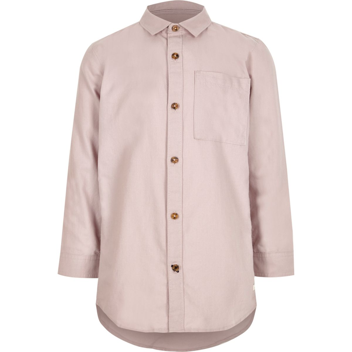 Boys pink long sleeve Oxford shirt