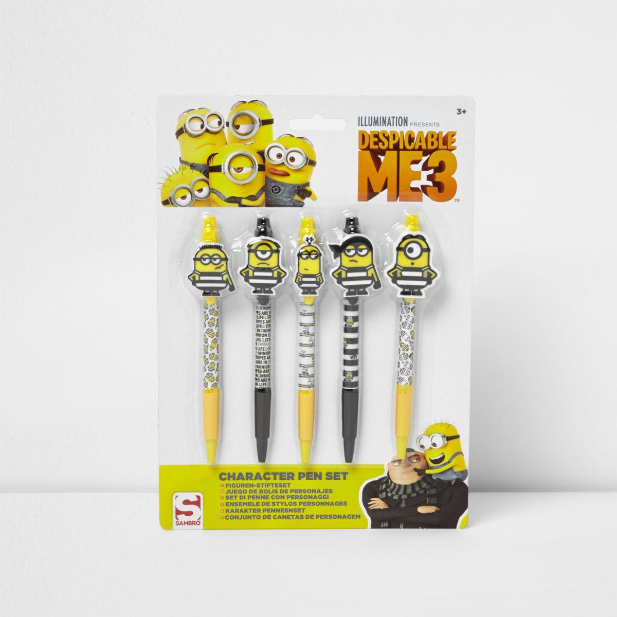 Minions character pen set