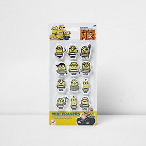 Minions mini eraser set