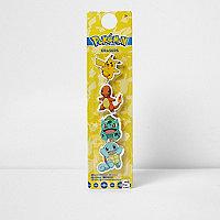 Boys yellow Pokémon eraser set