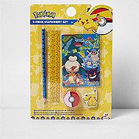 Boys yellow Pokémon stationary set
