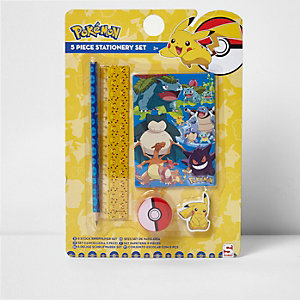 Ensemble papeterie Pokémon jaune pour garçon