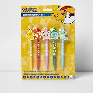 Boys yellow Pokémon pen set