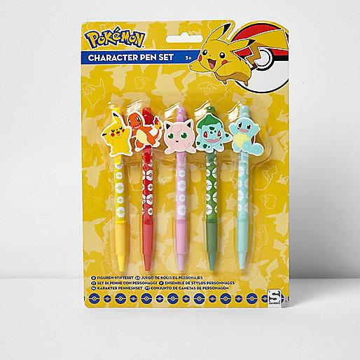 Boys yellow Pokémon pen set