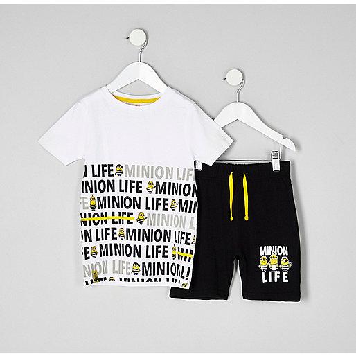 Mini boys white Minions pyjama set