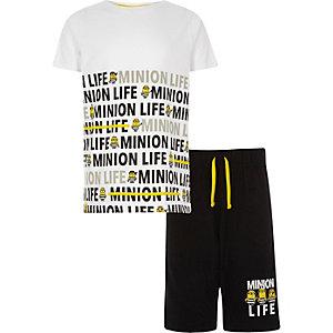 Witte 'Minion life' pyjamaset voor jongens