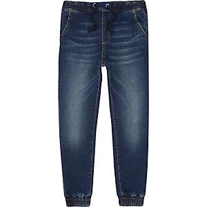 Ryan - Donkerblauwe jongging-jeans met kleurverloop voor jongens