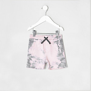 Rosa Batik-Shorts aus Jersey
