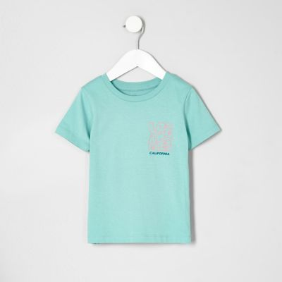 Mini Groen T-shirt met California'-print voor jongens