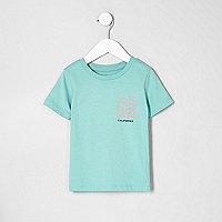 T-shirt imprimé California vert mini garçon