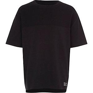 T-shirt noir texturé colour block pour garçon