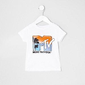 T-shirt blanc à imprimé « MTV » mini garçon