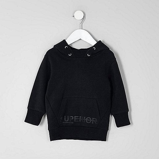 Mini boys navy 'superior' hoodie