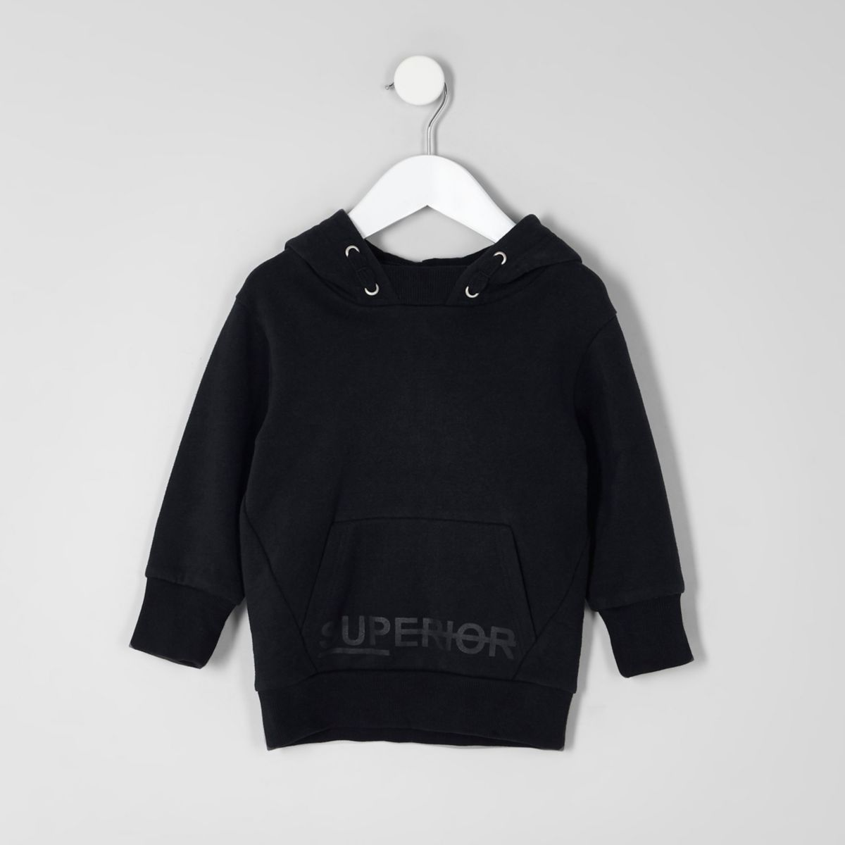 Mini boys navy 'superior' hoodie