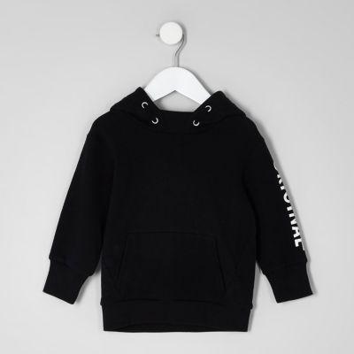 Mini Zwarte hoodie met Original'-print voor jongens