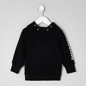 Mini boys black 'original' print hoodie
