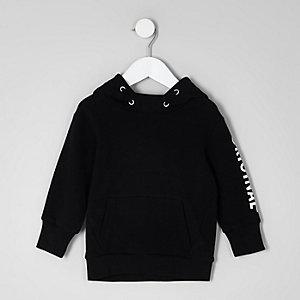 Mini - Zwarte hoodie met 'Original'-print voor jongens