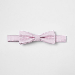 Boys pink polka dot textured bow tie