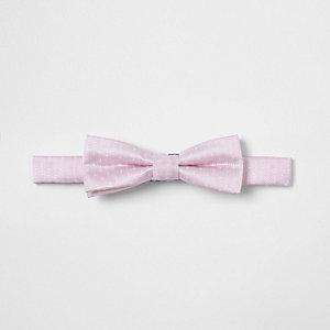 Nœud papillon à pois rose texturé pour garçon