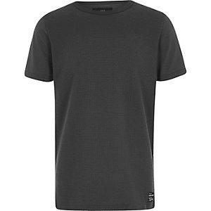 Grijs T-shirt met wafeldessin voor jongens