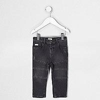 Mini boys black Sid skinny biker jeans
