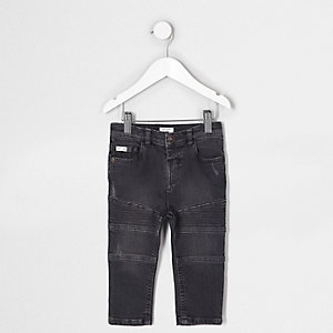 Mini boys black Sid skinny biker jeans