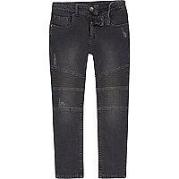 Boys black Sid skinny biker jeans