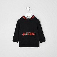 Mini boys black and red 'New York' hoodie