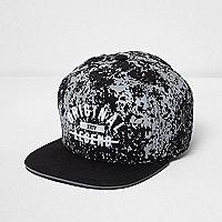 Boys black 'original legend' flat peak cap