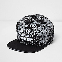 Boys black 'original legend' flat peak cap