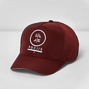 Boys purple 'focus' embroidered baseball cap