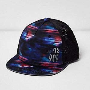 Boys blue glitch flat peak cap
