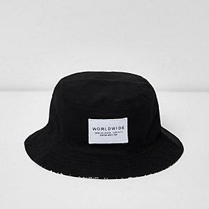 Zwart omkeerbaar hoedje voor jongens